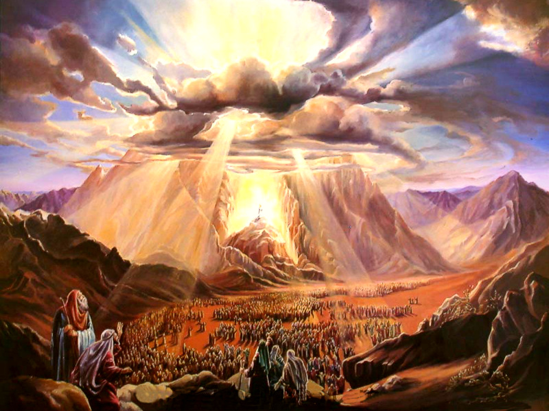 Exodus 19:19-20 KJV - And when the voice of the trumpet sounded long, and waxed louder and louder, Moses spake, and God answered him by a voice.  And the Lord came down upon mount Sinai, on the top of the mount: and the Lord called Moses up to the top of the mount; and Moses went up.